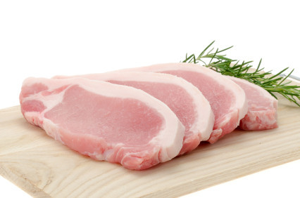 Pork loin chops (rind on)
